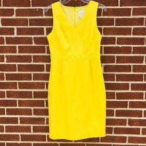 J. Crew C4076 yellow Sheath dress